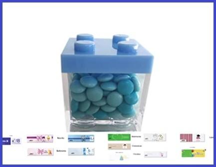 Scatolina portaconfetti originale a forma di lego