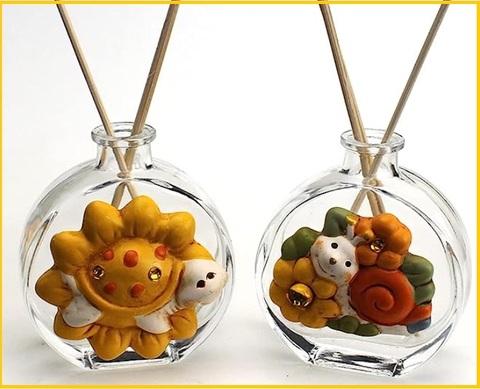 Bomboniere profumatori in vetro con animaletti
