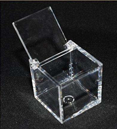 Scatolina In Plexiglass Trasparente Per Bomboniere O Confett