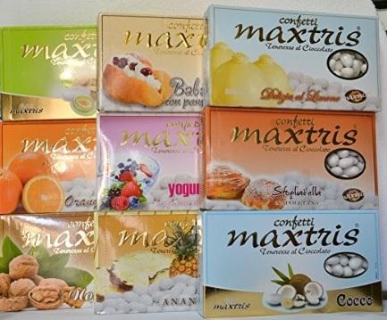 Confetti cioccomandorla mix gusti maxtris