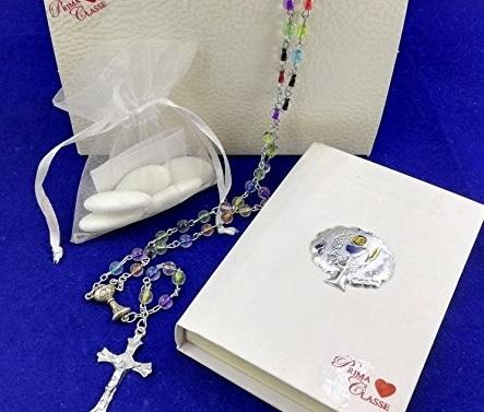 Bomboniere comunione argento rosario