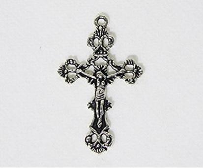 Croce ciondolo  classica in metallo 25 pezzi