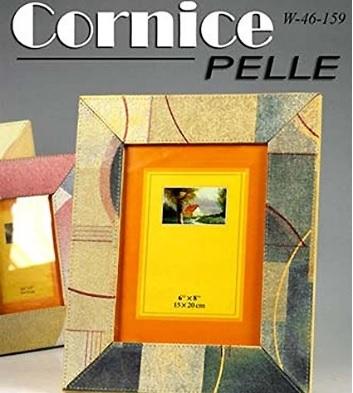 Bomboniera cornice porta foto moderna in pelle colorata