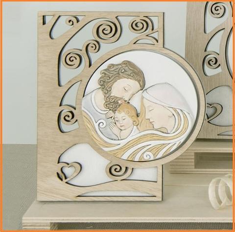 Icona sacra famiglia bomboniera per la cresima