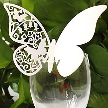 Segnaposto a forma di farfalla carta