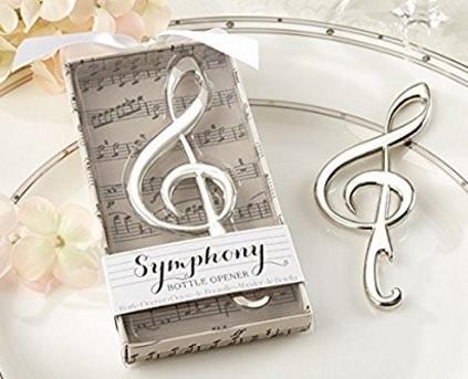 Bomboniera apribottiglie a forma di chiave di violino