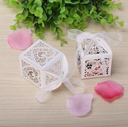 Scatoline per confetti meravigliose per matrimonio