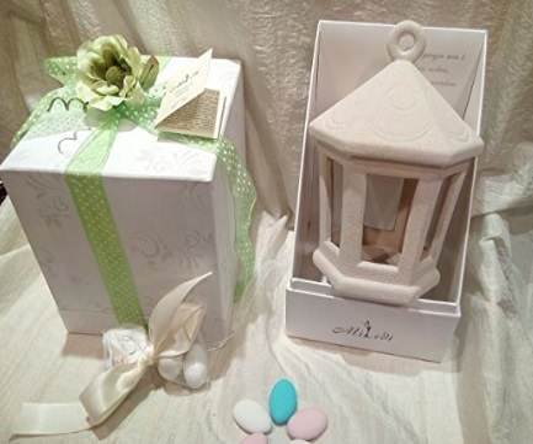 Bomboniere complete a forma di lanterna per il matrimonio