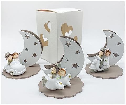 Coppia di sposini su scooter bomboniere