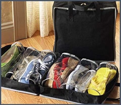 Borsa organizer scarpe da viaggio