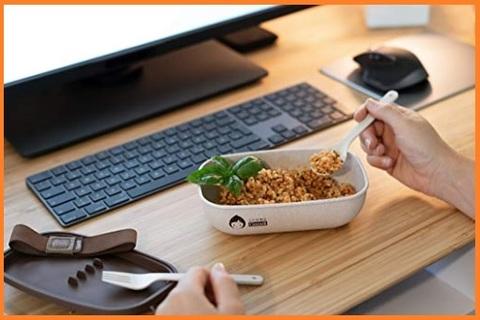 Porta pranzo microonde con posate