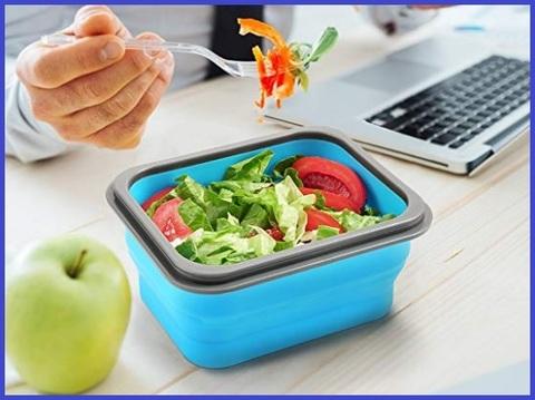 Porta pranzo da ufficio con posate