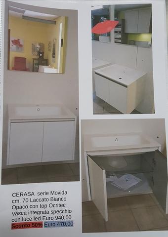 Offerta mobile bagno cerasa laccato bianco opaco