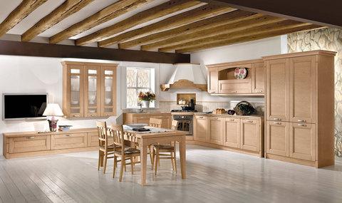 Cucina e living  classico-moderno
