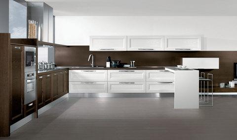 Cucina e living moderno classico