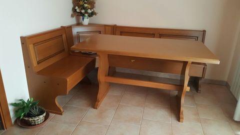 Giropanca contenitore e tavolo fratino in legno
