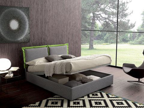 Letto con contenitore completo di materasso coordinato letto