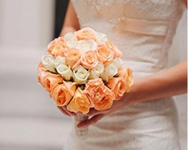 Bouquet rosa e bianco colorato e resistente