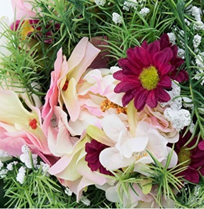 Bouquet artificiale variopinto per decorazioni matrimoniali