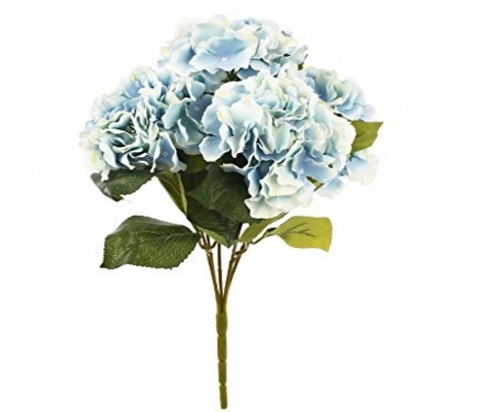 Bouquet Formato Da 5 Fiori Ortensia Azzurri