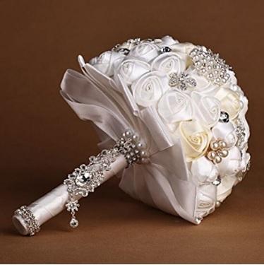 Bouquet Elegante E Raffinato Con Perle Finte