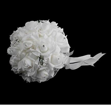 Bouquet Raffinato E Dal Colore Bianco Artificiale