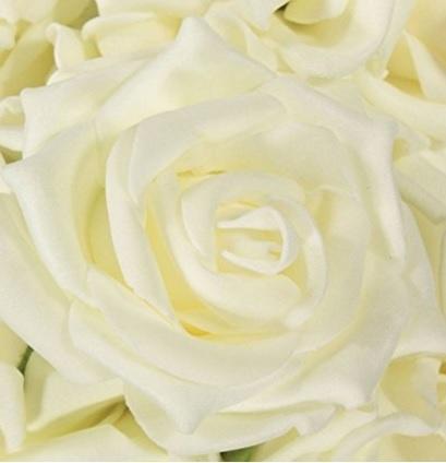 Bouquet Mazzo Di Fiori Rose Bianche Artificiali