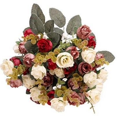 Bouquet floreale in seta rosa per matrimonio