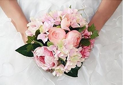 Bouquet Artificiale Decorativo Con Fiori Di Peonia