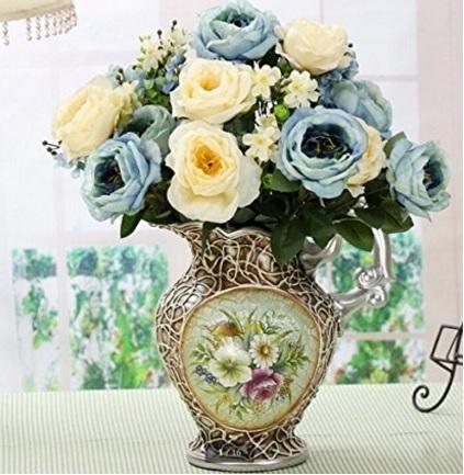 Bouquet Artificiale E Nuziale Sfumature Di Azzurro