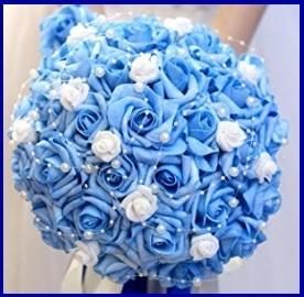 Bouquet A Cascata Azzurro