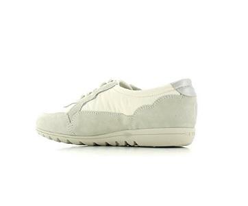 Sneakers Basso Keys In Camoscio E Tessuto