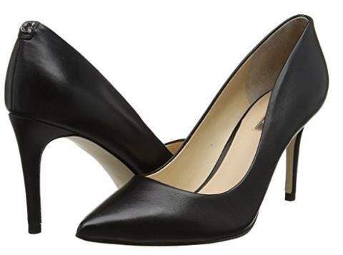Scarpe decolte nera a punta guess