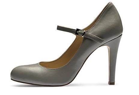 Scarpe decollete grigio chiaro tacco a spillo