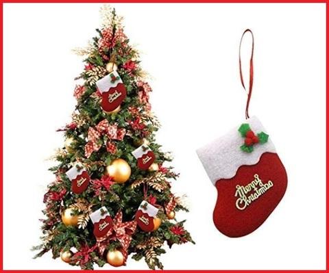 Calze Natalizie Merry Christmas Decorazioni Per La Befana