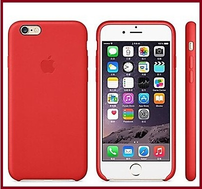 Cover per iphone 6 rossa e in vera pelle