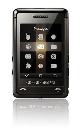 Samsung armani sgh p520 black / silver