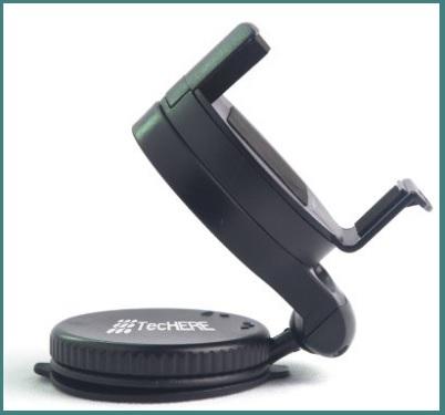 Supporto per smartphone con ventosa o adesivo