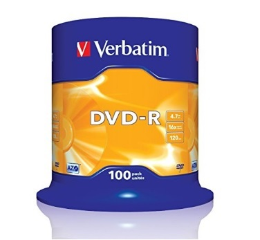 Dvd-r Cd Vergini 16x Speed Confenzione Da 100