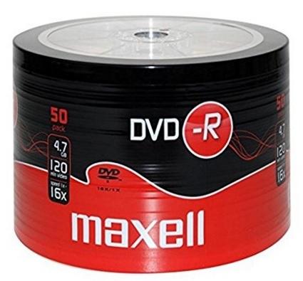 Maxell dvd-r 4.7 gb 50 pezzi