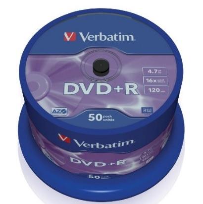 Verbatim dvd+r vergini confezione da 50