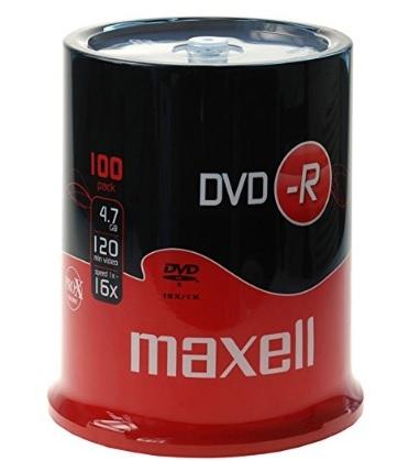 Dvd-r vergini in campana maxell