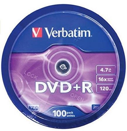 Dvd r verbatim confenzione da 100