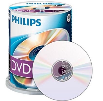 Dvd Vergini Philips Campana Da 100 Pezzi