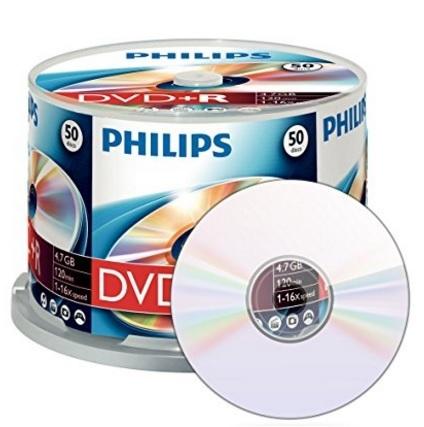 Dvd+r 4.7 gb confenzione da 50 pezzi