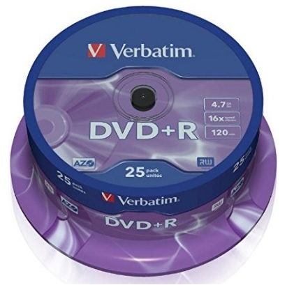 Dvd verbatim confezione da 25 da 4.7 gb