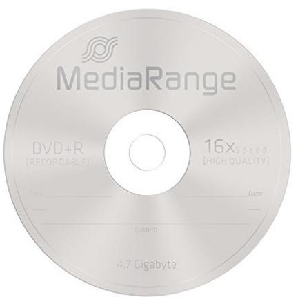 Dvd R Vergini Mediarange 4,7 Gb