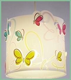 Lampadari per camerette con farfalle