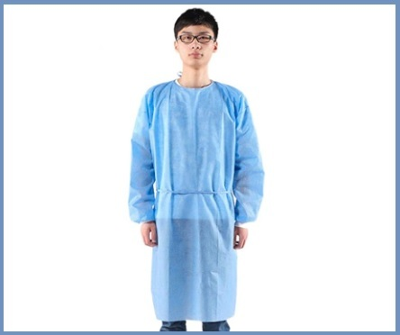 Camici monouso blu