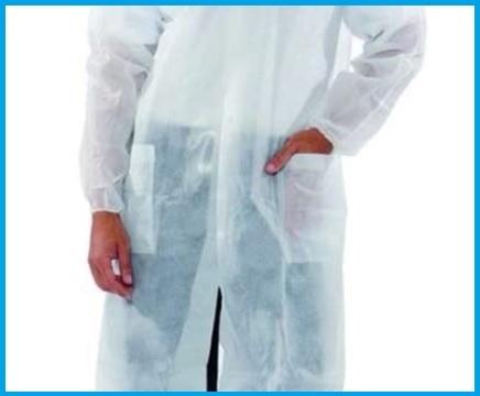 Camici monouso bianchi con velcro